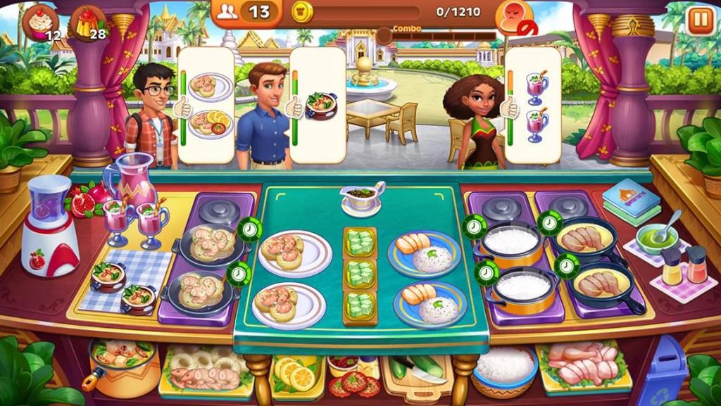 เกมการทำอาหาร หรือคนที่ชอบเล่นเกมเพื่อทำภารกิจให้ผ่านด่านก็ขอแนะนำเกมนี้เลย Cooking Madness-Kitchen Frenzy เกมมือถือทำอาหารสุดสนุก