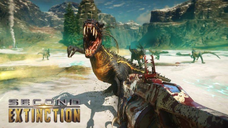 เกมล่าไดดนเสาเสมือนจริง Second Extinction ยิงแหลกกำจัดไดโนเสาร์กลายพันธุ์ ผู้เล่นนั้นมีระเบิดกับกระสุนที่จำกัด Airdrop ไม่มีทีม AI